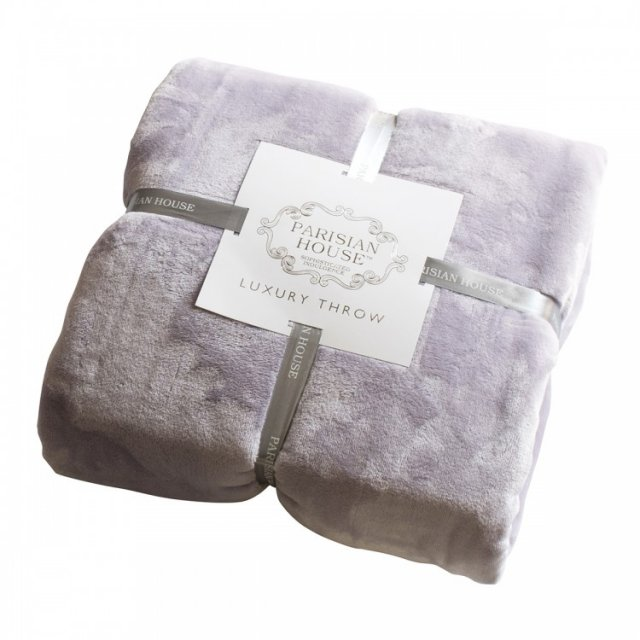 FLANNEL FLEECE THROW LAVENDER 140CMX180CM