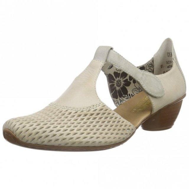 887422c5045c Rieker Roy Eagle Off White Small Heel Shoe - Shoes - Barbours