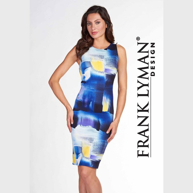 Frank Lyman Dress Blue & Yellow