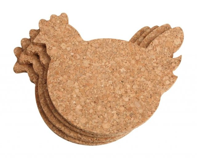 Chicken Coasters Cork 4