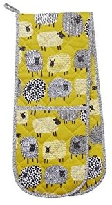 Double Oven Glove Dotty Sheep