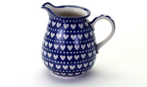 Country Pottery 1l Jug Heart to Heart
