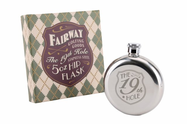 19th Hole Stainless Steel 5oz Hip Flask