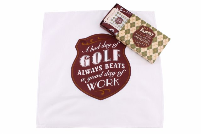 Fairway Golfing Hankies Set2