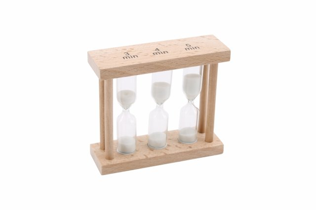3,4,& 5 Minute Natural Wood Egg Timer