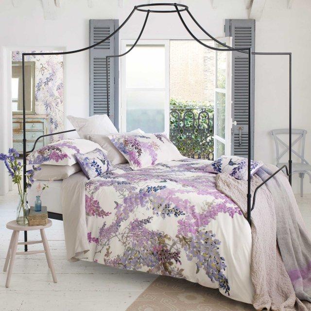 bedeck sanderson wisteria falls bedding lilac - Liliac Bedding