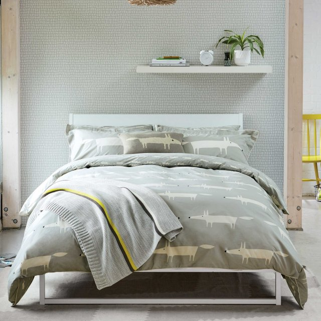 Bedeck Scion Mr Fox Bedding Silver