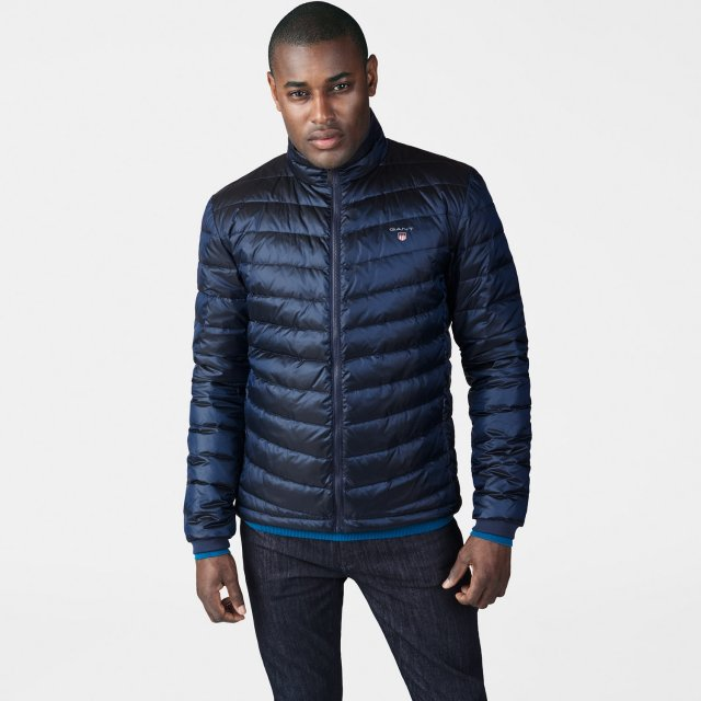 Gant O1. The Airlight Down Jacket Evening Blue