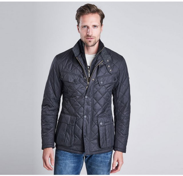 Barbour Windshield Quilt Jacket Navy (TR)
