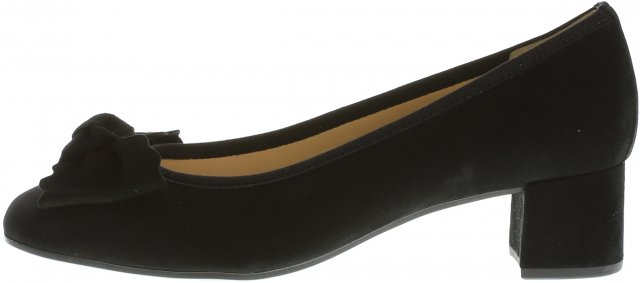Gabor Bow Court Shoe Black