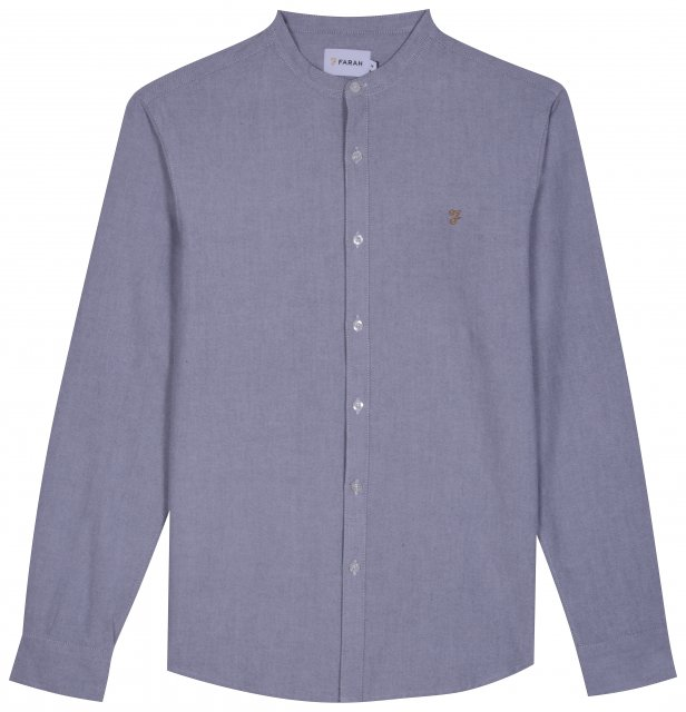 Farah Brewer Slim LS Grandad Shirt