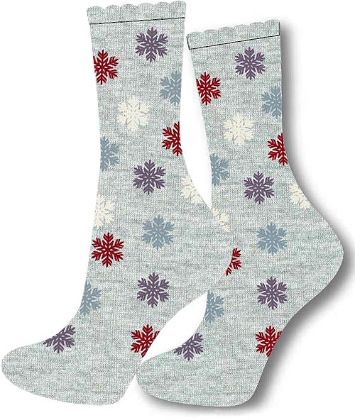 Charnos Snowflake Placement Sock Grey Mix