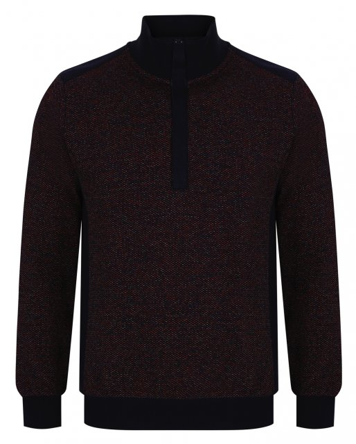 Douglas & Grahame Half Zip Funnel Neck Pullover