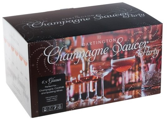 Dartington Party Set 6 Champagne Saucers