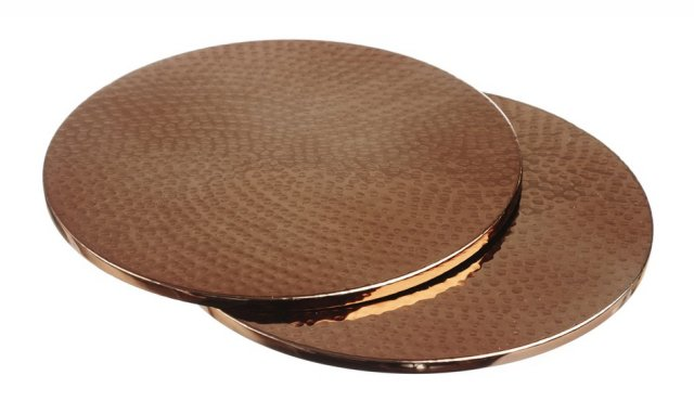 2 Copper Trivets/Placemats