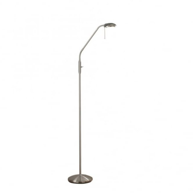Floor Lamp Satin Chrome