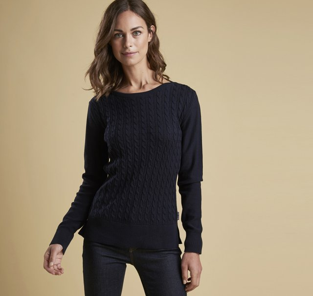 Barbour Prudhoe Knit   Navy