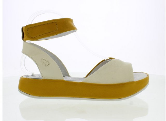 Fly London Bibb Sandal Off White/Honey