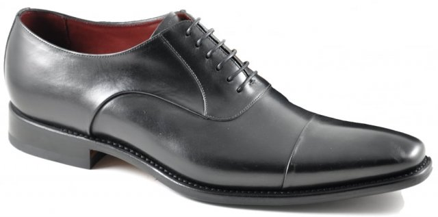 Loake Snyder Black Toe Cap Shoe