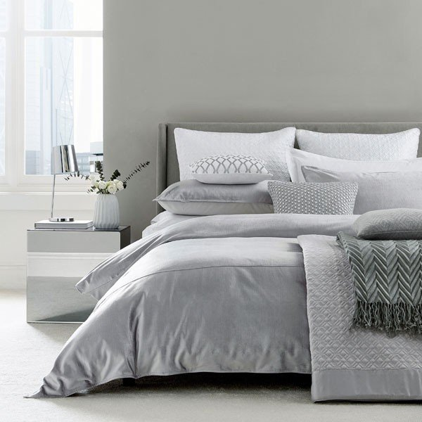 Bedeck Peacock Blue Hotel Collection Samsara Bedding Platinum