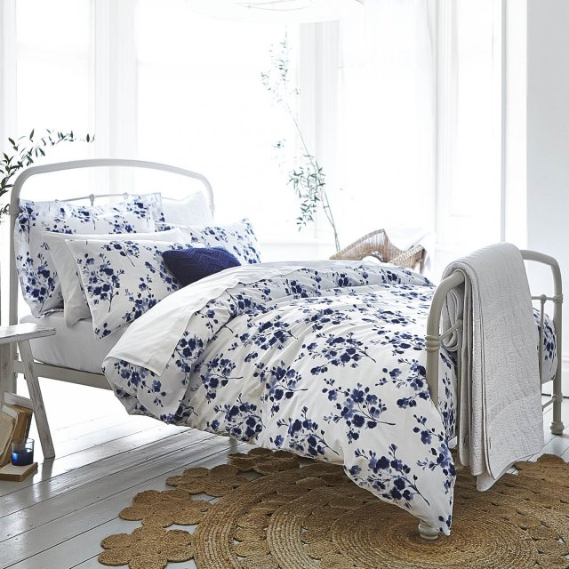 Bianca Sprig Cotton Bedding Blue Print