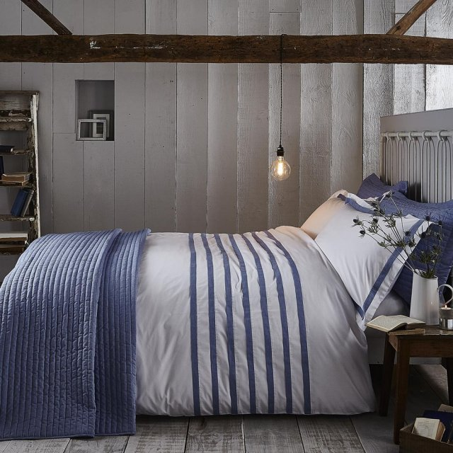 Bianca Chambray Bedding Blue