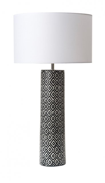 Black and White Table Lamp Base Only