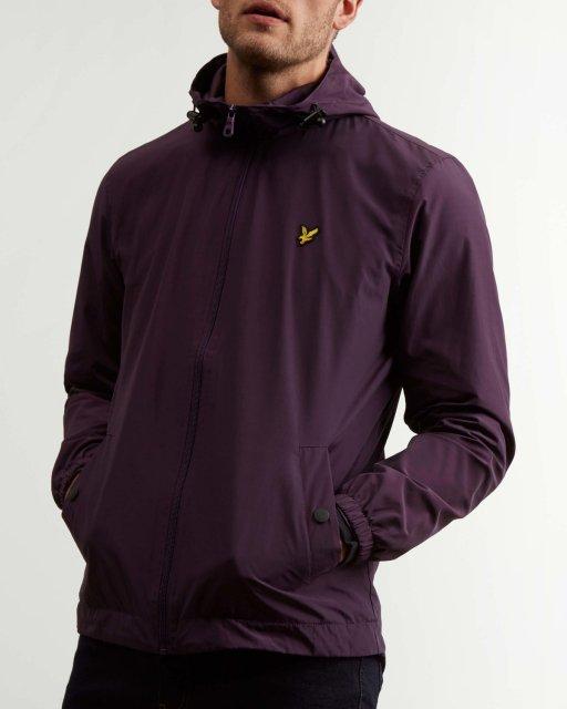 e18e52d0d176a Lyle   Scott Zip Through Hooded Jacket Deep Plum - Outerwear - Barbours