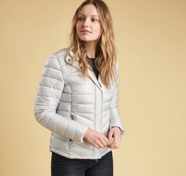 Barbour Vartersay Quilt Jacket White