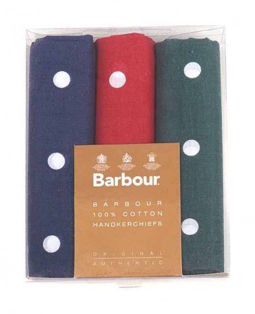 Barbour Spotted Hankies - Boxe Red