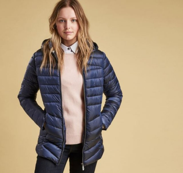 Barbour Ailith Quilt Jacket Navy