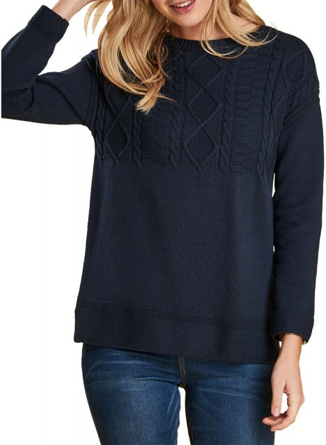 Barbour Weymouth Knit Navy