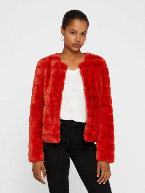 Vero Moda Avenue Faux Fur Short Jacket - Jackets - Barbours 72ec4a2c02