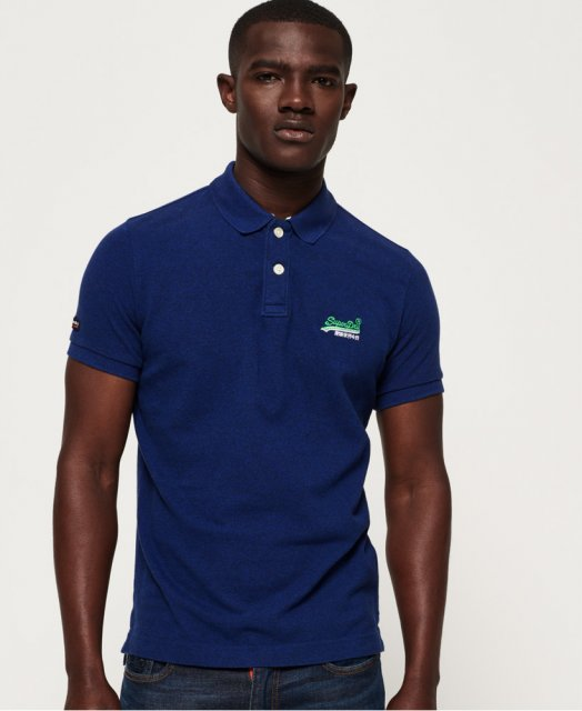 Superdry Classic S/S Pique Polo Blue