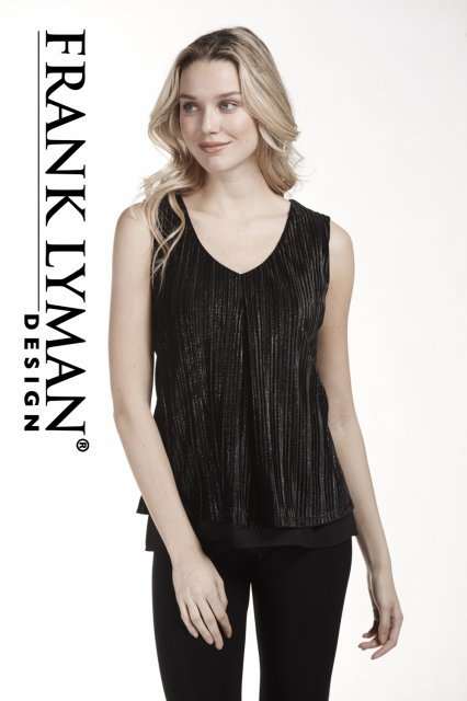 Frank Lyman Top Black/Gold