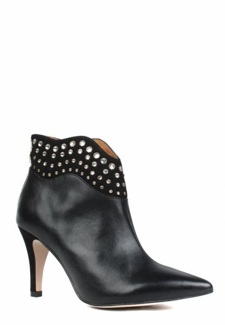 Caprice Black Comb Pointed Premium Boot