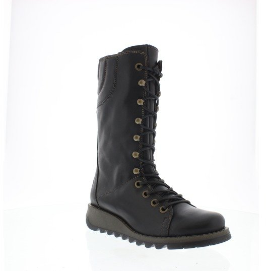 Fly London Ster Atlantis Lace Up Boots Black