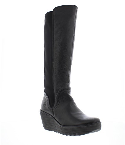 Fly London Yeve Calhariz/Neoprene Long Boot Black