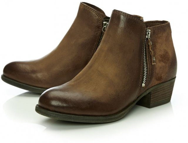 585cc0c0e Moda in Pelle Bestifall Embossed Zip Ankle Boot Tan - Boots - Barbours