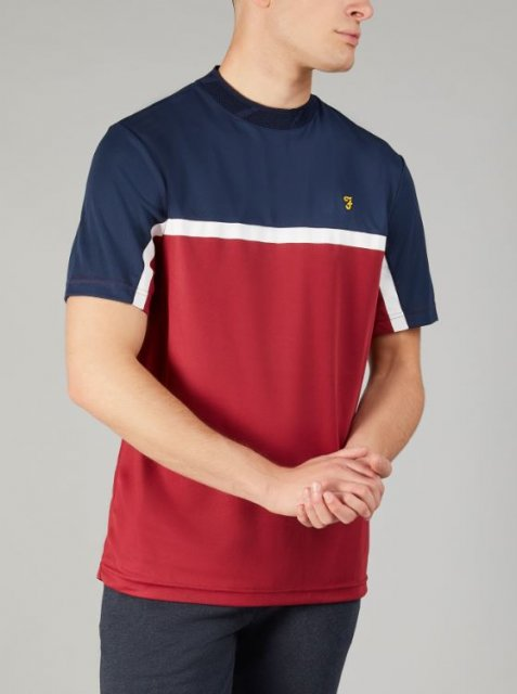 Farah Sport Coucher Tee Red