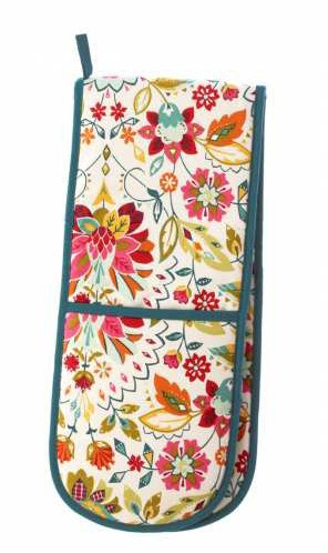 Bountiful Floral Double Oven Gloves