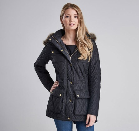 Barbour Enduro Quilted Jacket Navy
