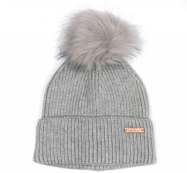 Barbour International  Mallory Pom Beanie Lt Grey