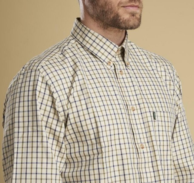 Barbour Stapleton Tattersall Shirt Sunbleached Olive