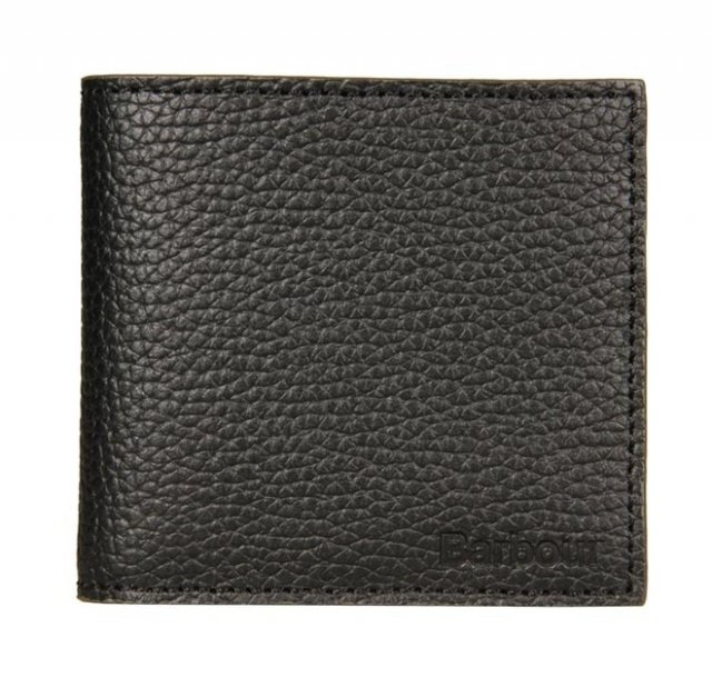 Barbour Gain Leather Wallet Black