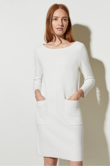 Great Plains Core Milano Ls Dress Milk