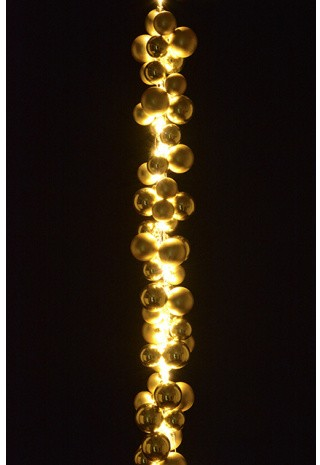 144 LED Cascade Bauble Garland Indoor Gold