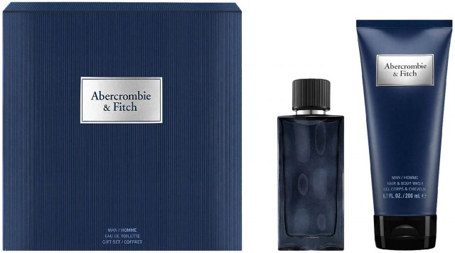 Abercrombie & Fitch First Instinct Blue For Men Eau De Toilette Christmas Coffret Gift Set