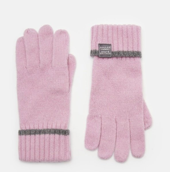 Joules Huddle Gloves Dusk Pink