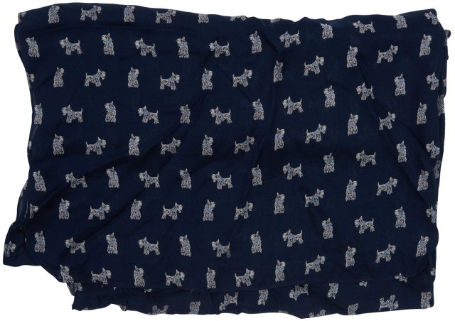 Barbour Dog Print Navy and White Wrap
